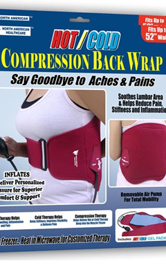 Hot/Cold Compression Back Wrap
